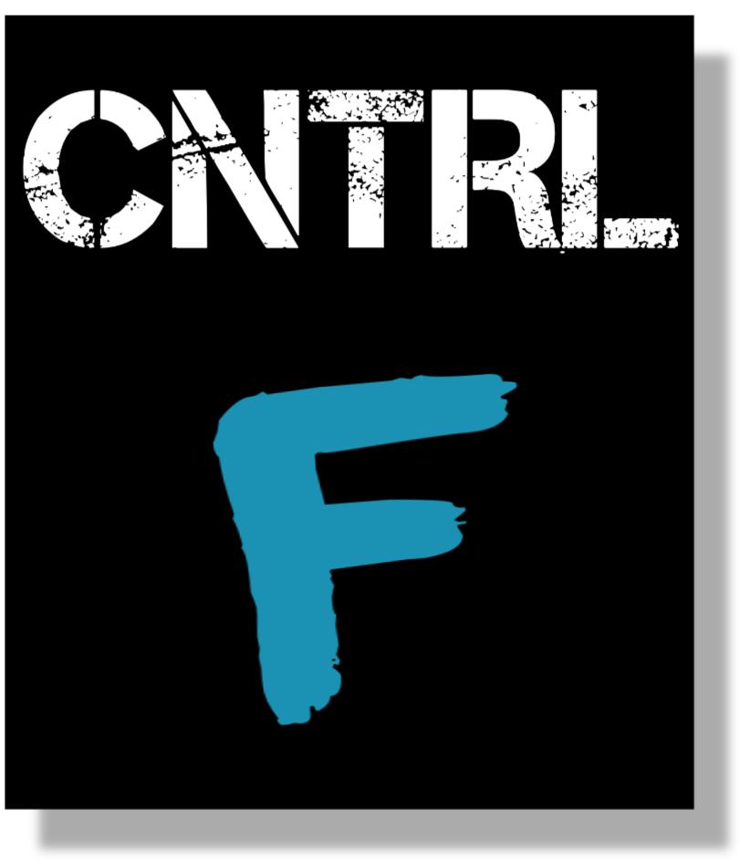 CNTRL F